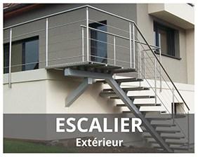 Escalier extérieur fabriqués par ARTESCALIERS
