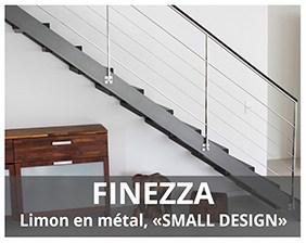 Finezza escalier métalique fabriqué par Artescaliers