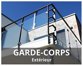 Garde-corps RAMPANT BOIS-MÉTAL-INOX-VERRE