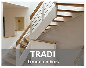 Tradi escalier limons bois fabriqué par Artescaliers