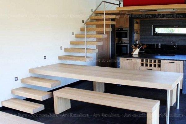 escalier_design-autoporteur_droit_bois-chene-blanchi_garde-corps-inox_table-integre_01-artescaliers