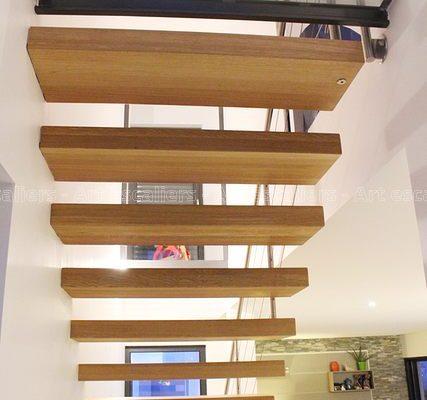 escalier_design-autoporteur_droit_bois-chene_garde-corps-inox_04-artescaliers
