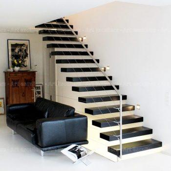 escalier_design-autoporteur_droit_bois-laque_garde-corps-inox-artescaliers