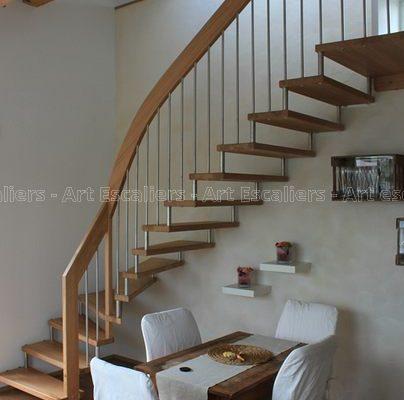 escalier_design-suspendu_1-quart-tournant_bois-hetre_ballustre-inox_01-artescaliers