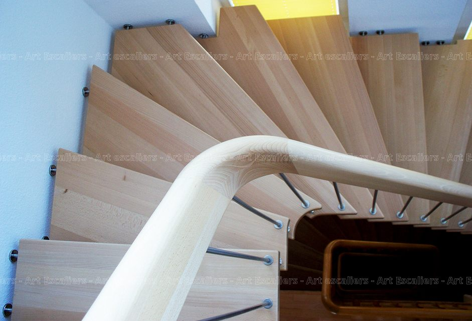 vertica escalier suspendu bois inox art escaliers. Black Bedroom Furniture Sets. Home Design Ideas