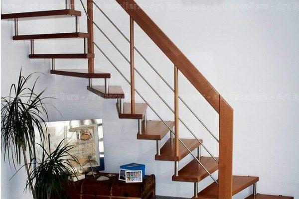 escalier_design-suspendu_1-quart-tournant_bois-teinte_lisses-inox-artescaliers