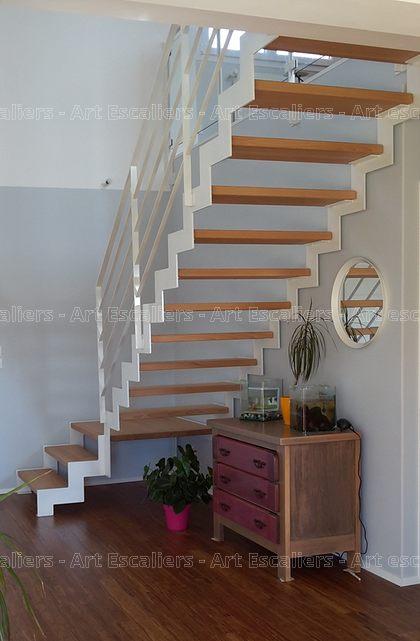 fera escalier m tallique avec limon cr maill re art escaliers. Black Bedroom Furniture Sets. Home Design Ideas