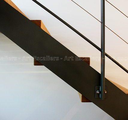 escalier_limon-metal_droit_acier-laque_marches-bois-hetre_garde-corps-acier-laque-cables_main-courante-bois-artescaliers