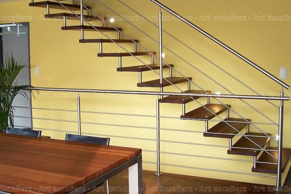 escalier_design-suspendu_droit_bois-teinte_garde-corps-inox_01-artescaliers