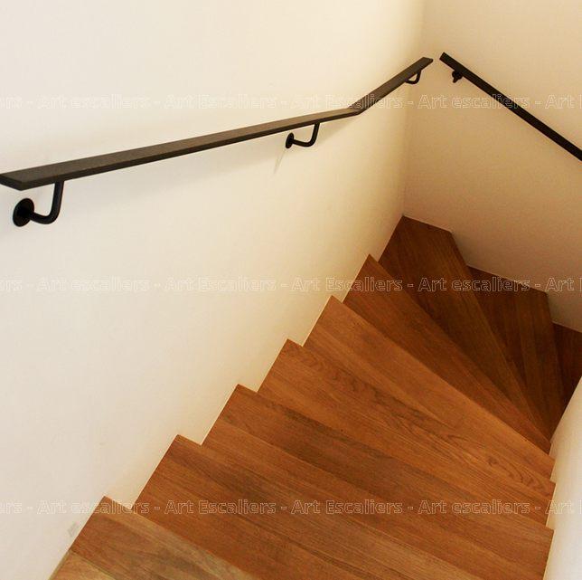 escalier design habillage 1 quart tournant bois chene 01. Black Bedroom Furniture Sets. Home Design Ideas
