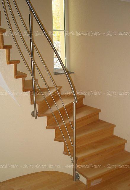 Escalier Design Habillage 2 Quarts Tournants Bois Hetre Contre Marche 02 Artescaliers Art