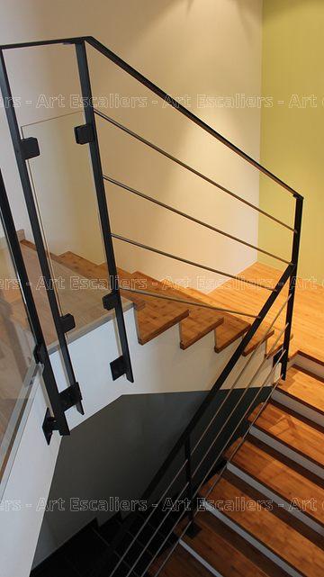 escalier design habillage 2 quarts tournants palier bois. Black Bedroom Furniture Sets. Home Design Ideas