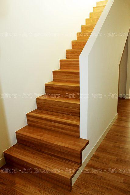 escalier design habillage droit bois chene contre marche artescaliers art escaliers. Black Bedroom Furniture Sets. Home Design Ideas