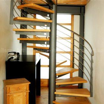 H lico dal escalier courbe escalier tournant art escaliers - Escalier helicoidal bois metal ...
