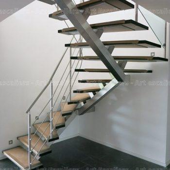 escalier_design_limon-central_2-quarts-tournants_inox_marches-bois-teinte_garde-corps-inox-artescaliers