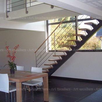 escalier_design_limon-central_droit_acier-laque_marches-bois-hetre_garde-corps-inox_01-artescaliers