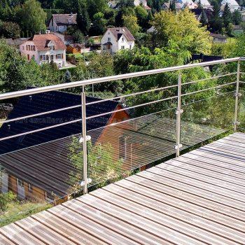 garde corps ext rieur horizontal m tal inox verre art escaliers. Black Bedroom Furniture Sets. Home Design Ideas