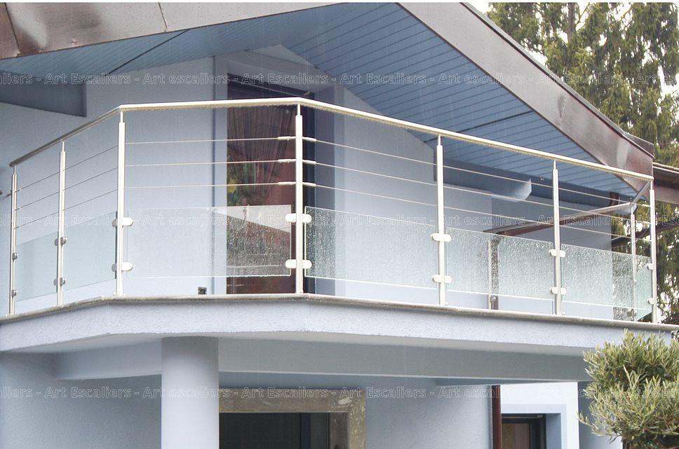 garde corps horizontal exterieur inox rond verre cable artescaliers art escaliers. Black Bedroom Furniture Sets. Home Design Ideas