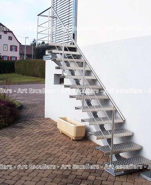 10 escalier exterieur bois inox acier caillebotis art escaliers - Escalier exterieur acier ...