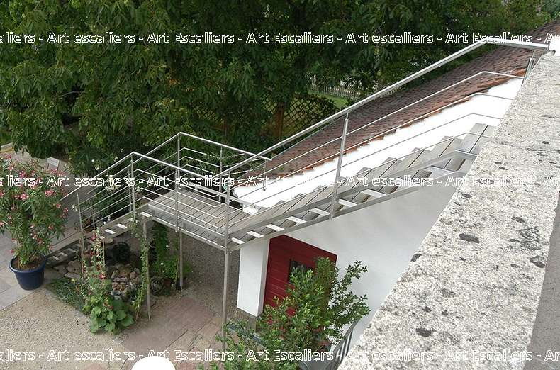 14 escalier exterieur bois inox acier caillebotis art escaliers - Escalier exterieur acier ...