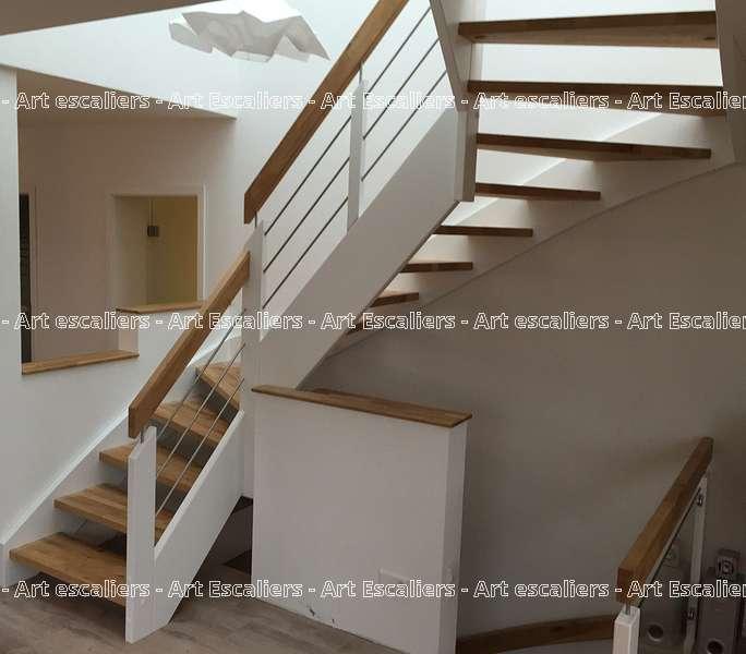 14 escalier traditionnel bois inox acier art escaliers - Escalier acier bois ...