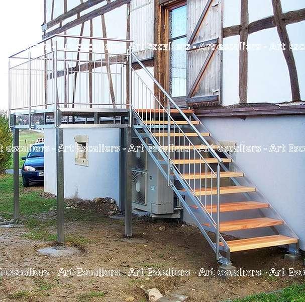 15 escalier exterieur bois inox acier caillebotis art escaliers - Escalier exterieur acier ...