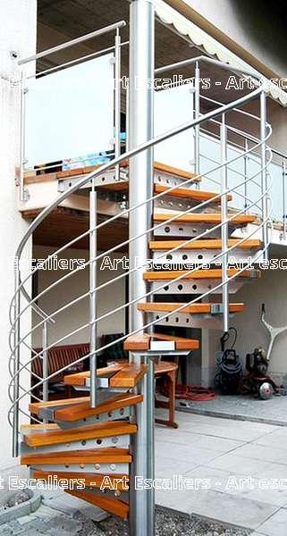 24 escalier exterieur bois inox acier caillebotis art escaliers - Escalier exterieur acier ...