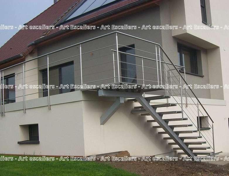 6 escalier exterieur bois inox acier caillebotis art escaliers - Escalier exterieur acier ...