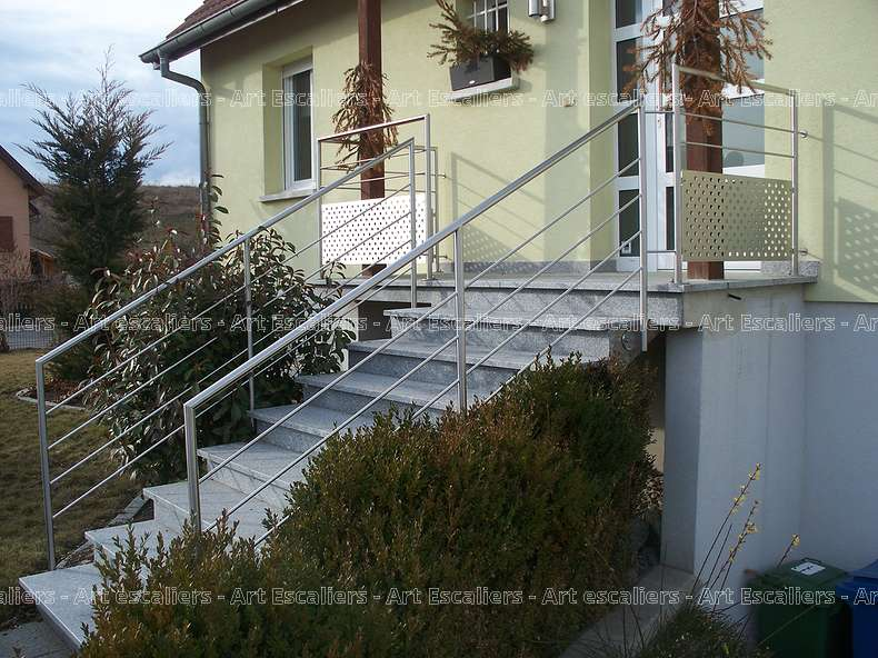 garde corps ext rieur rampant galerie photos art escaliers. Black Bedroom Furniture Sets. Home Design Ideas