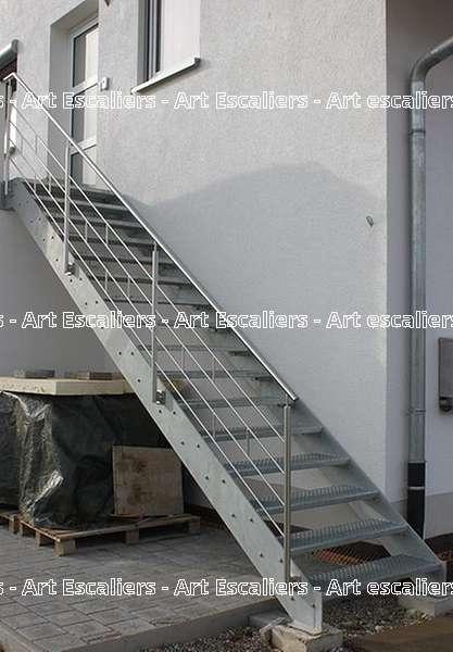 7 escalier exterieur bois inox acier caillebotis art. Black Bedroom Furniture Sets. Home Design Ideas