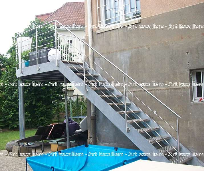 9 escalier exterieur bois inox acier caillebotis art escaliers - Escalier exterieur acier ...
