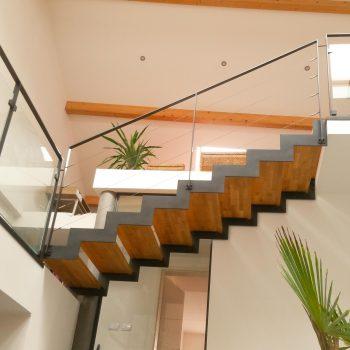 Escalier Fera Metal et bois