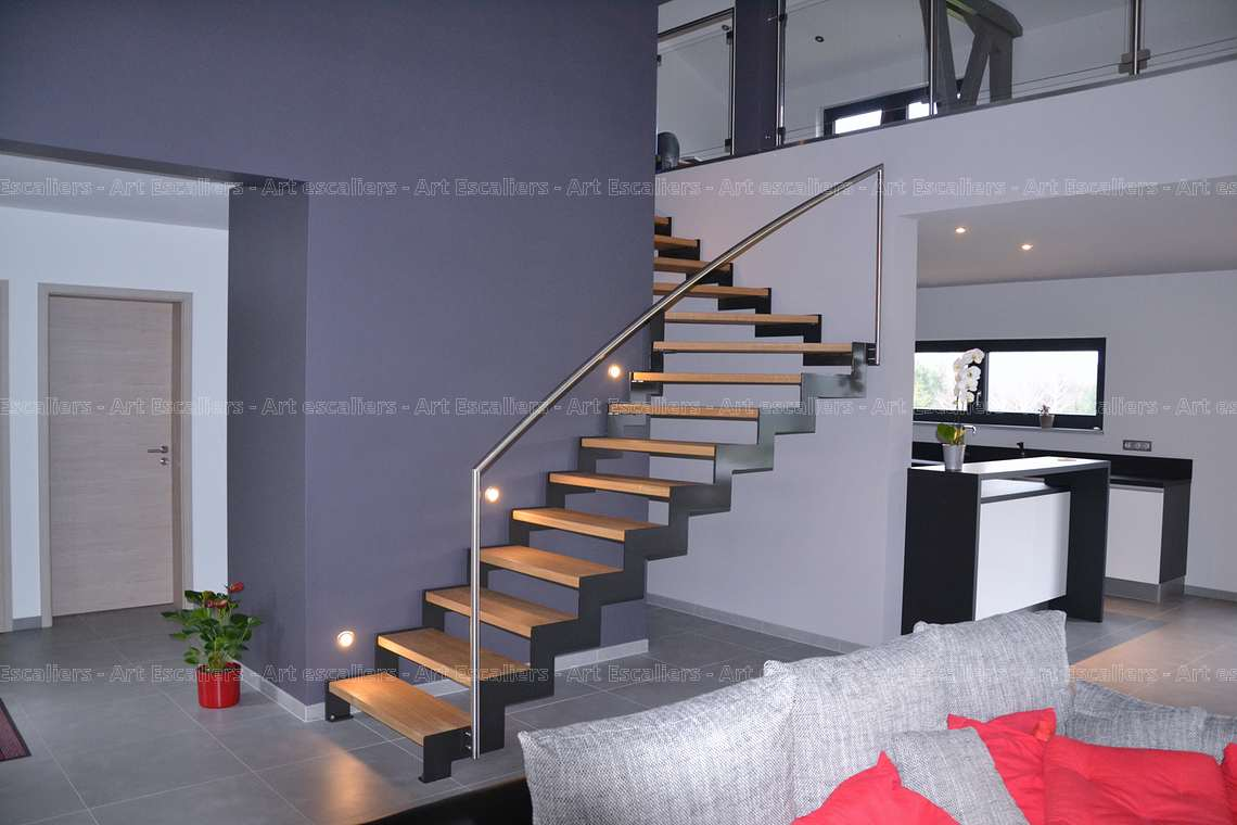 escalier cr maill re m tal niedervisse. Black Bedroom Furniture Sets. Home Design Ideas
