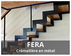 Fera escalier crémaillère fabriqué par Artescaliers