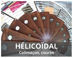 Escalier colimaçon fabriqué par ARTESCALIERS