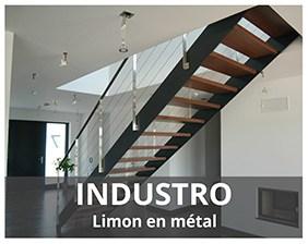 Industro escalier métallique fabriqué par Artescaliers