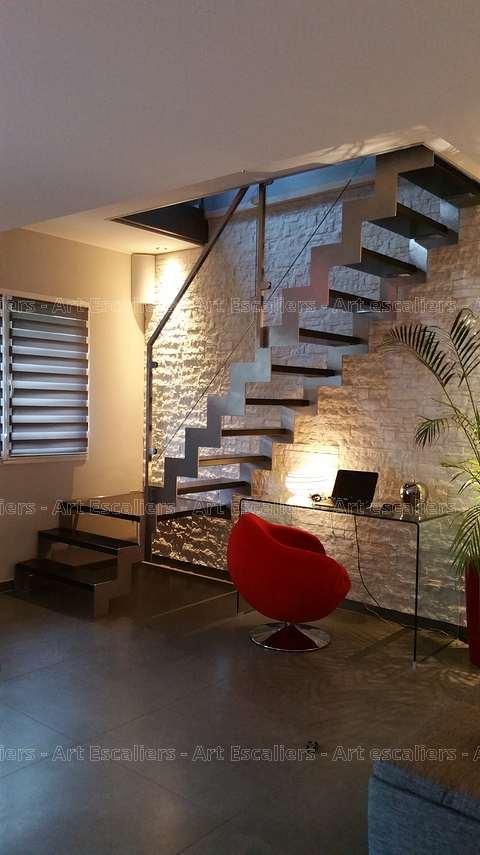 Escalier crémaillère métal à Algrange