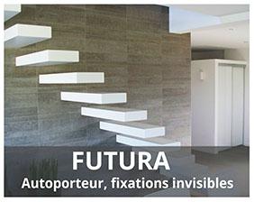 Futura escalier autoporteur fabriqué par Artescaliers