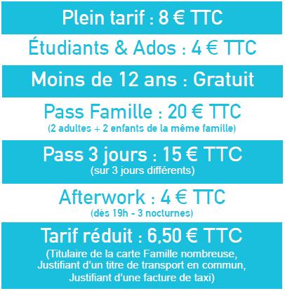 Tarifs foire de Metz 2018
