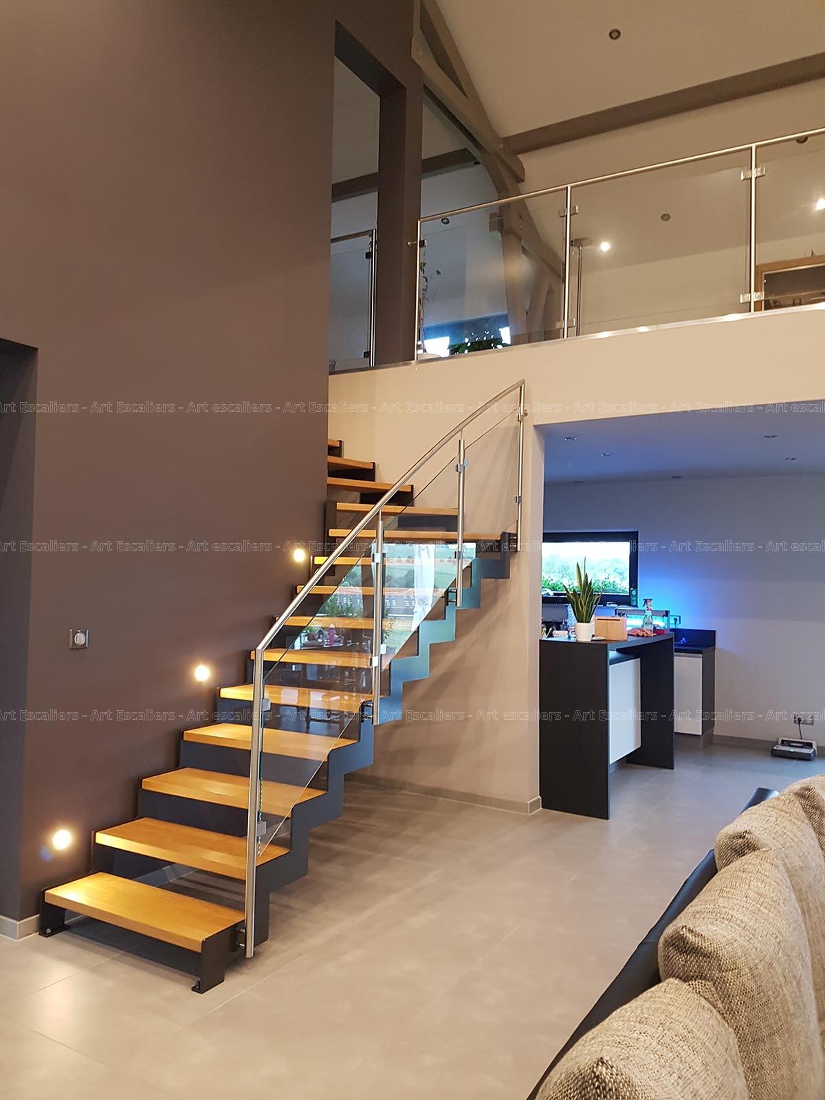 Escalier Cremaillere Metal Niedervisse Art Escaliers