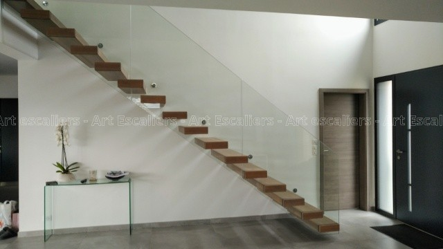 Escalier design sans limon Thionville - Art Escaliers
