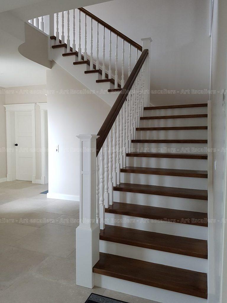 Fabricant D Escalier Bois escalier tradi dans l'esprit américain - art escaliers